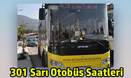 301 sarı otobüs saatleri aydın