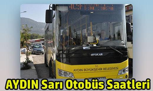 aydın sarı otobüs saatleri ve ücretleri