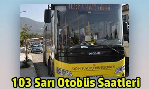 103 sarı otobüs saatleri