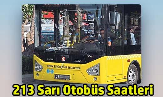 213 sarı otobüs saatleri aydın