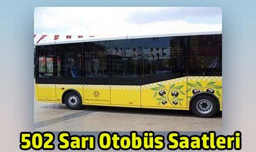 502 sarı otobüs saatleri adü çeştepe