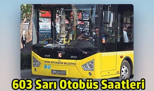 603 sarı otobüs saatleri adü