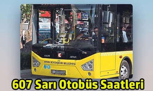 607 sarı otobüs saatleri